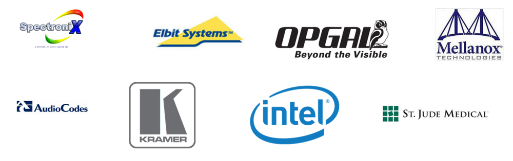 Intel, HP, Mellanox, Opgal, Flextronic, Elbit, Kramer