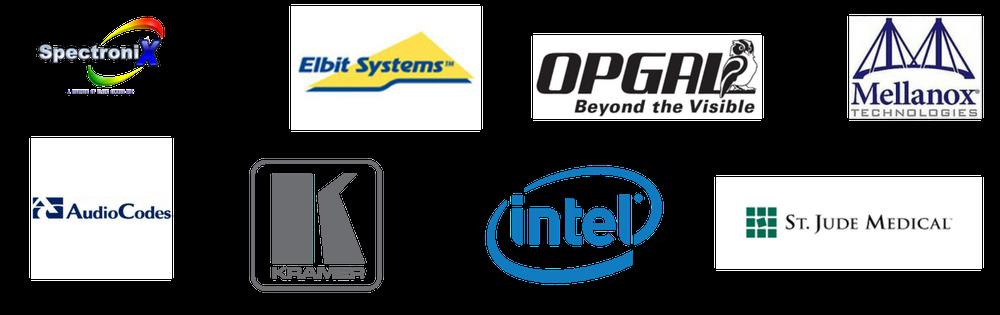 Intel, HP, Mellanox, Opgal, Flextronic, Elbit, Kramer